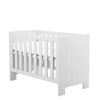 Mocne i eleganckie łóżeczko dla niemowlaka.
