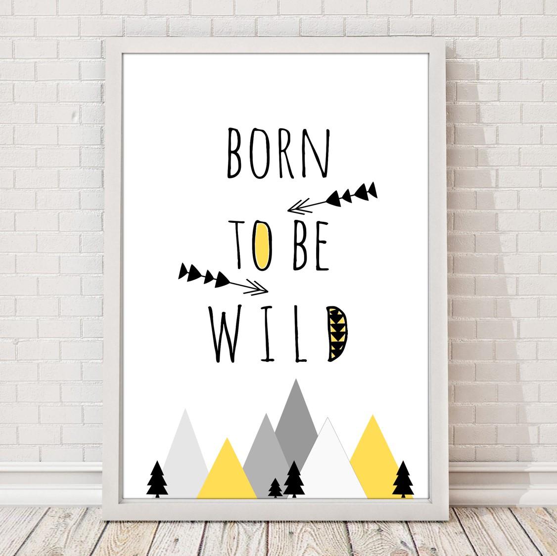 Plakat Obrazek Do Pokoju Dziecka Be Wild Jagodowykot