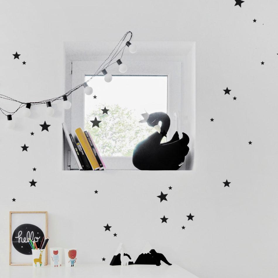 Dekoracja ściany do samodzielnej aplikacji. Bardzo pasuje do pokoju chłopca.