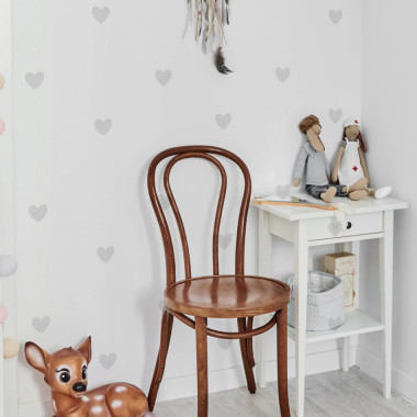 Delikatna, szara grafika doskonale komponuje się ze ścianami w każdym kolorze. Użyj w sypialni lub jadalni.