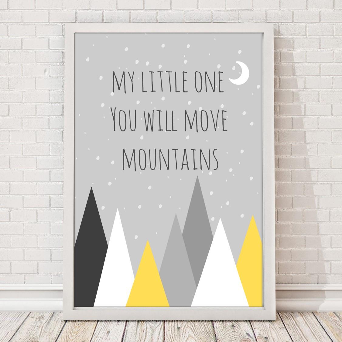 Plakat Obrazek Do Pokoju Dziecka Move Mountains Jagodowykot