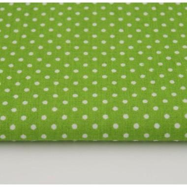Zielona zasłona ze 100% bawełny. Pasuje do pokoju dziecka oraz do pokoju dziennego.