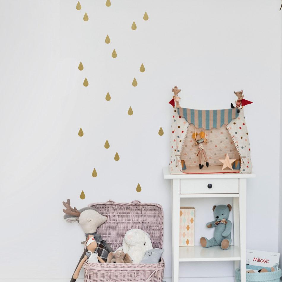 Ekskluzywna dekoracja samoprzylepna ściany w pokoju dziewczynki, nastolatki.