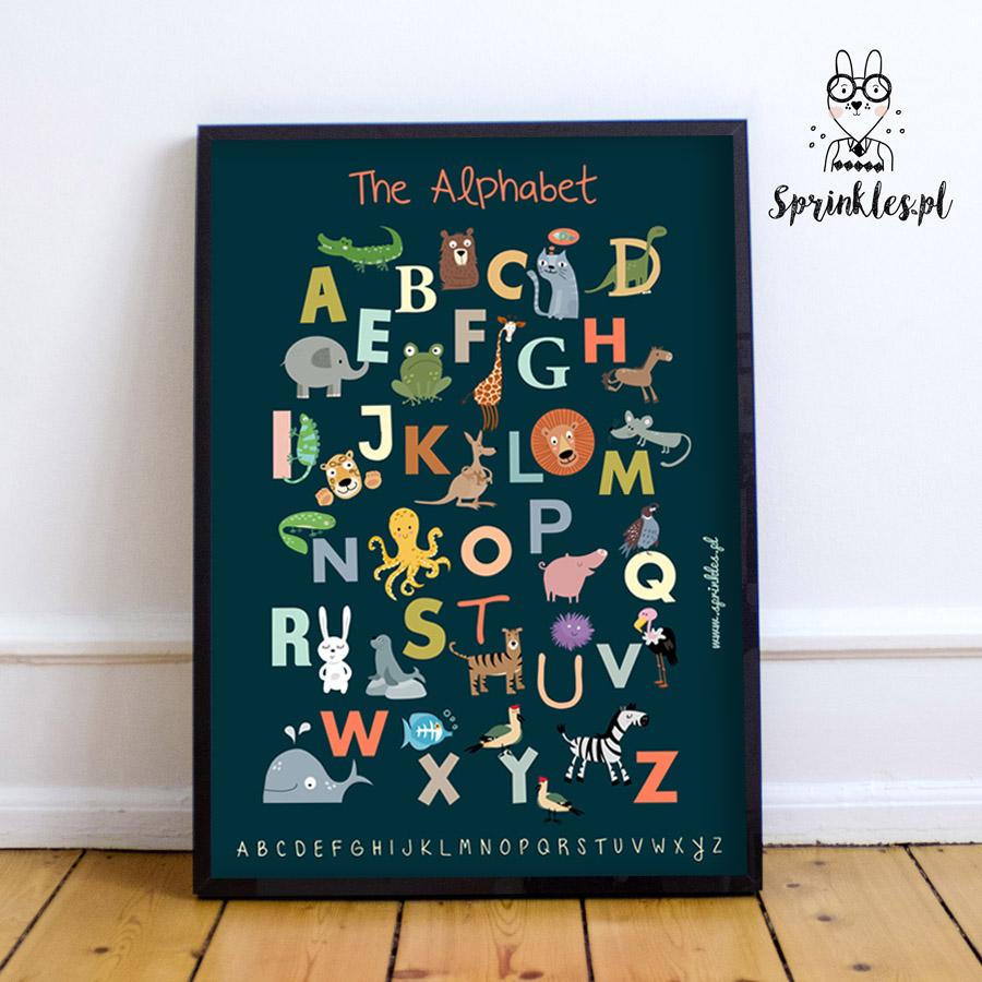 Alfabet Angielski Granatowy Jagodowykot