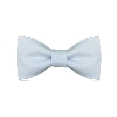 Bawełniana elegancka błękitna muszka na uroczyste wyjścia.