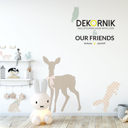 Naklejki na ścianę - zestaw OUR FRIENDS ANIMALS