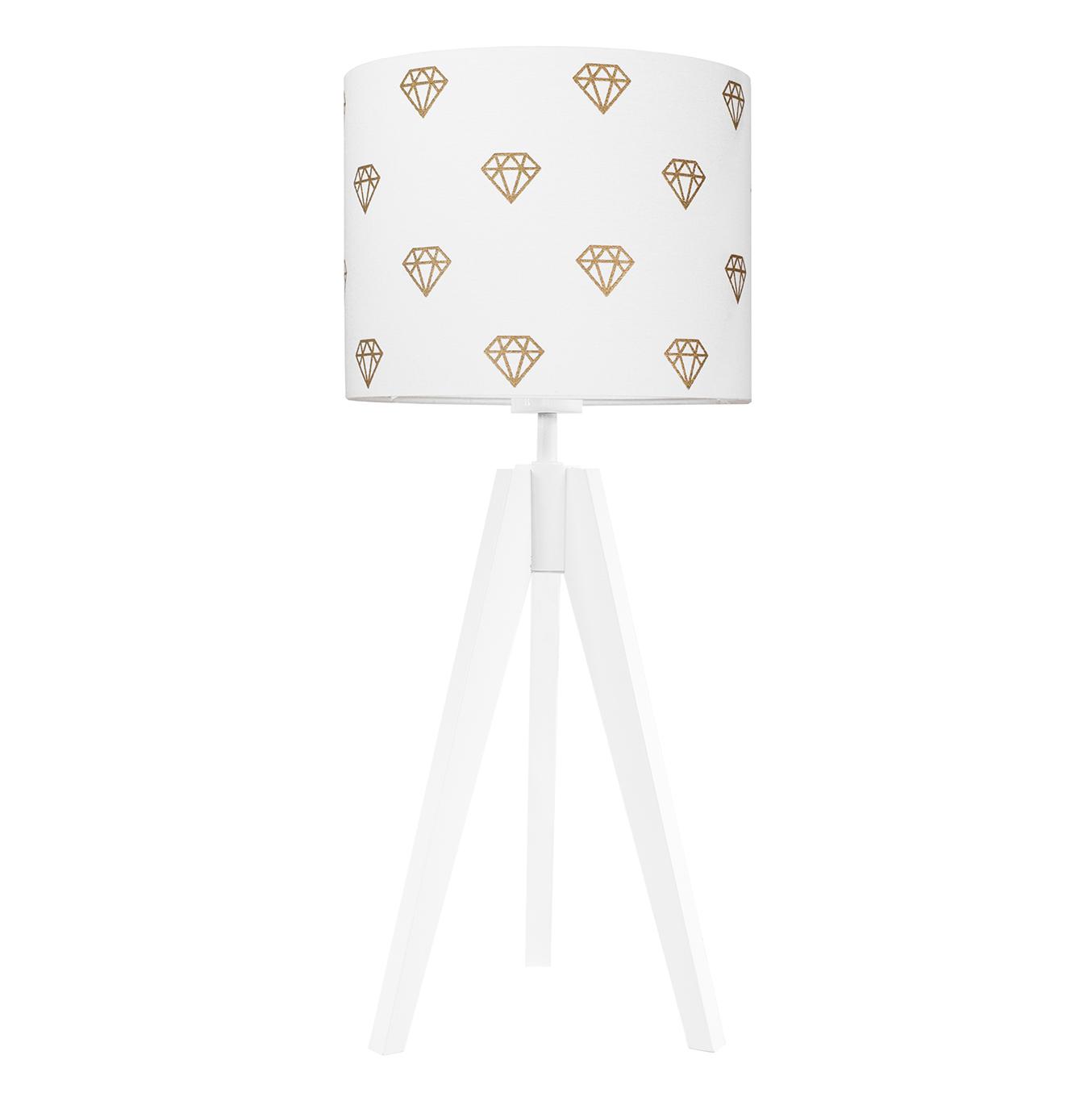 youngDECO Lampa na stolik trójnóg diamenty