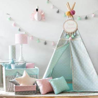 Tipi Lovely Dots Mint & Grey