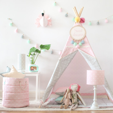 Tipi Lovely Dots Pink & Grey (5)