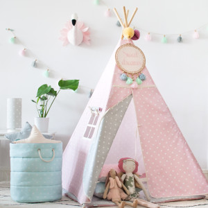 Tipi Lovely Dots Pink & Grey (6)