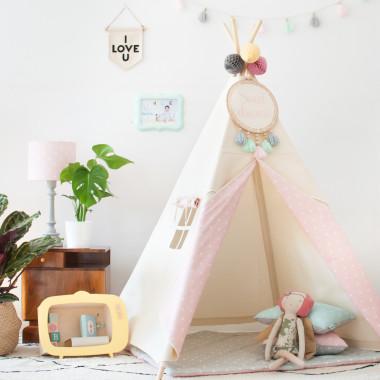Tipi Natural & Dots Pink (5)