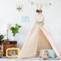 Tipi Natural & Dots Pink