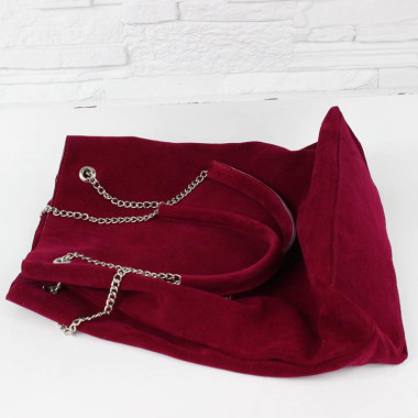 Torebka skórzana – Worek na łańcuszku Cardinal Z/D