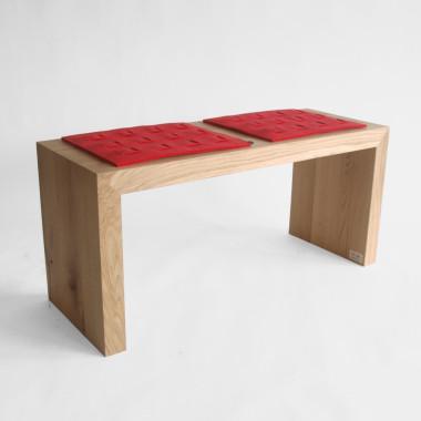 Dębowa ławka z litego drewna  - nowoczesny minimalistyczny mebel