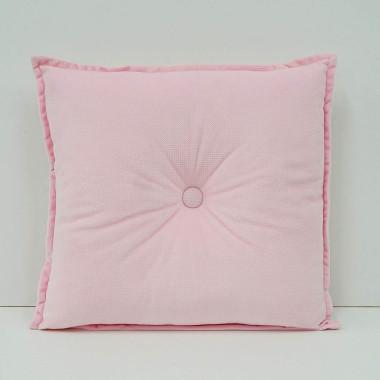 Aksamitna poduszka dla dzieci w kształcie kwadratu pudrowy róż