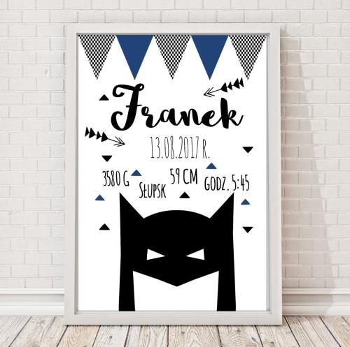 Metryczka Batman dla chłopca plakat