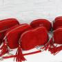 Kolekcja torebek czerwień Carmen zamsz
