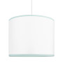 Lampa sufitowa MINI porcelanowa biel z miętą