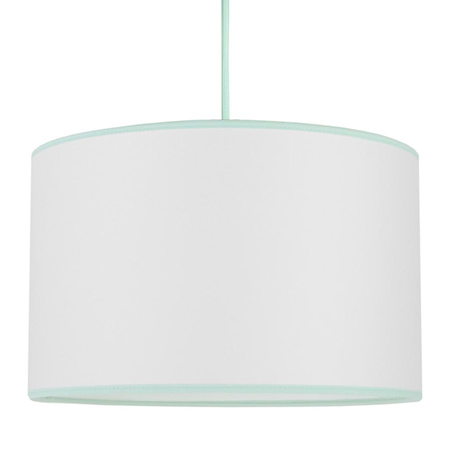 Lampa sufitowa Porcelanowa biel z miętą