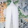Biały baldachim dla dzieci