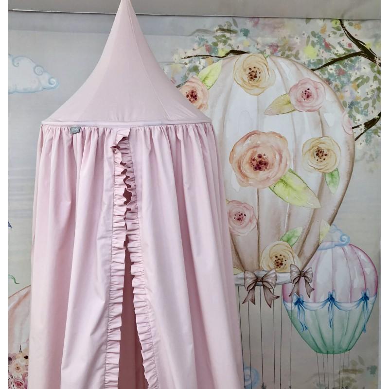 Baldachim dla dzieci w kolorze różowym