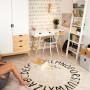 Biało-drewniana szafa Scandi - szafa do pokoju dziecięcego, młodzieżowego