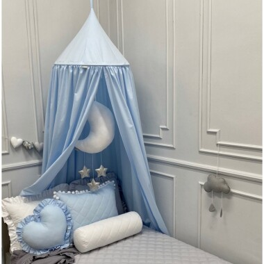 Śliczny baldachim, który zostanie z Wami na dłużej - najpierw jako dekoracja łóżeczka, póĹşniej jako alternatywa dla tipi.