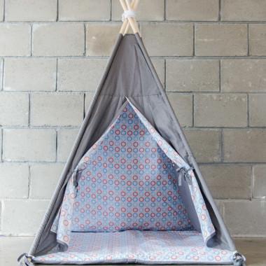 Kolorowe koła - tipi, namiot dla dzieci