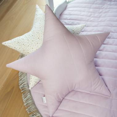 Lila Stars - pikowana poduszka w kolorze lila