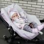 Lila Stars - pokrowiec na fotelik Maxi-Cosi