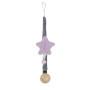 Lila Stars - zawieszka do smoczka z dzwoneczkiem