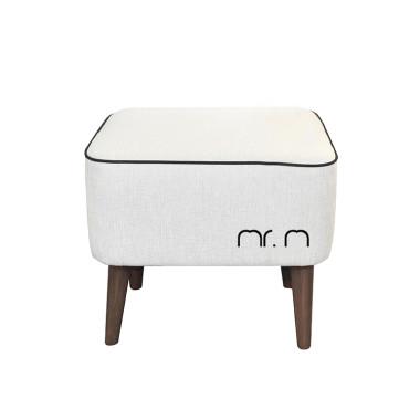 Miękka kremowa/biała pufa w stylu nowoczesnym, pasuje do wnętrz loft, industrialnych, nowoczesnych