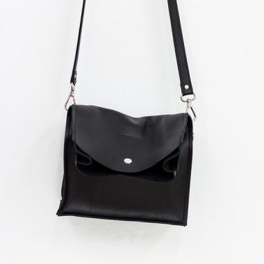 Boxy Bag - dwuczęściowa torebka -czarna