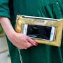 Ręcznie robiona kopertówka o dwóch frontach wykonana z wysokiej jakości skóry naturalnej oraz transparentnej folii