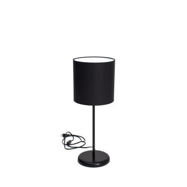 Lampka SLIM czarna z czarnym abażurem