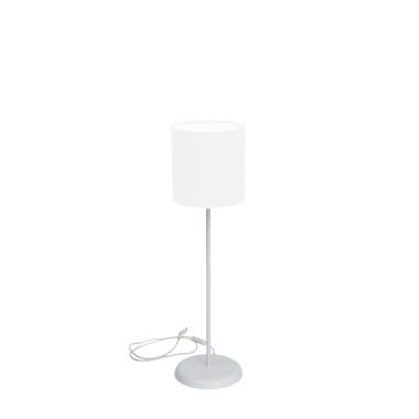 Lampa SLIM biurkowa biala z bialym abazurem