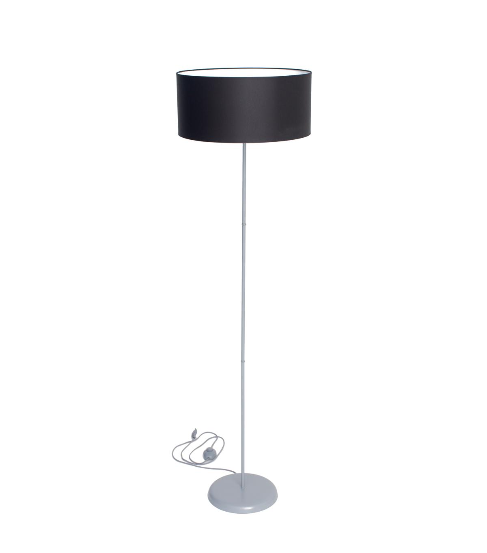 Lampa SLIM podłogowa szara z czarnym abażurem