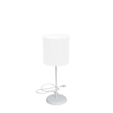 Lampka SLIM biała z białym abażurem