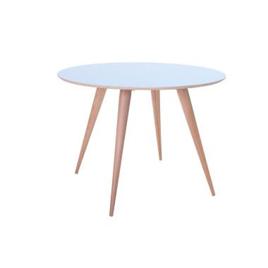 Okrągły stół do kuchni, jadalni, salonu ze sklejki o średnicy 105cm