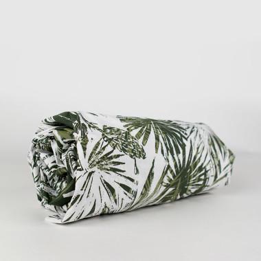 Prześcieradło dla dzieci/niemowląt wykonane z wysokiej jakości tkaniny, zakładane na gumkę. Motyw roślinny.