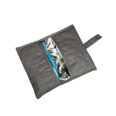 Praktyczny szary pokrowiec na zapasowe pieluszki i chusteczki dla dzieci