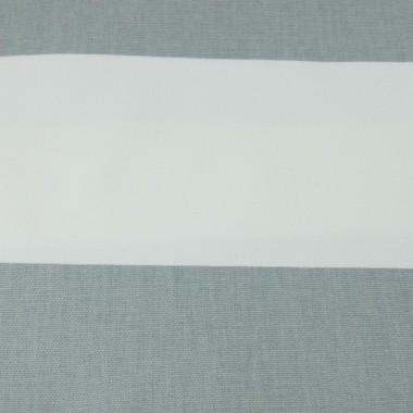 Szaro-biała zasłona z grubej bawełny szyta na wymiar
