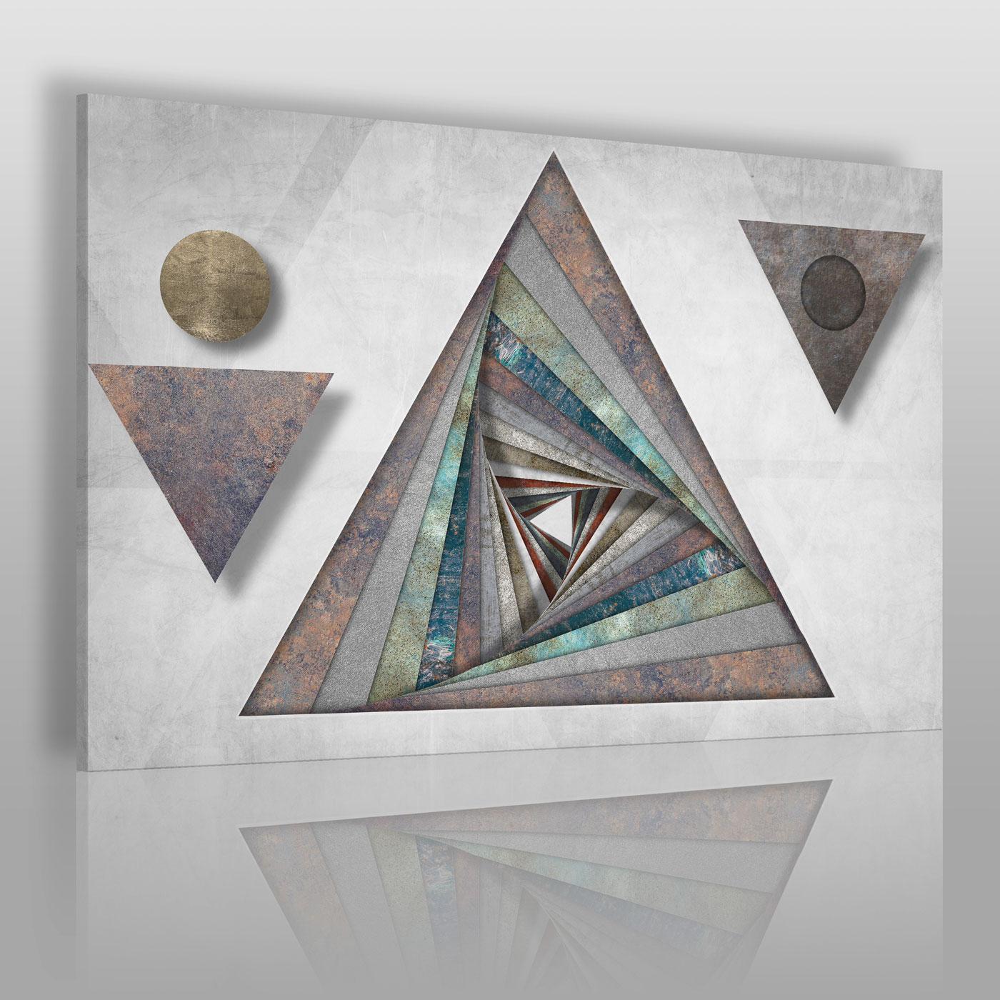 Abstrakcyjny obraz na płótnie w odcieniach szarości - obraz do salonu, sypialni, biura