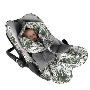 Dwustronny, pikowany, miękki śpiwór do fotelika samochodowego dla dziecka