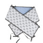 Dwustronny, miękki błękitny w misie ochraniacz na szczebelki do łóżeczka