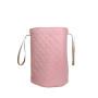 Różowy kosz na zabawki/pościel-pikowany