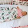 Peonia - śpiworek niemowlęcy w różowe kwiaty