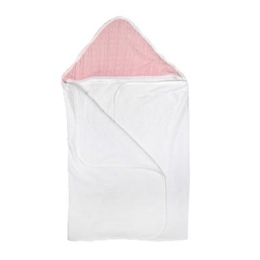 Duży, miękki, przyjazny dla dziecka różowy ręcznik kąpielowy