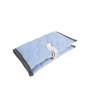 Błękitny, dwustronny w misie pokrowiec na pieluchy i chusteczki dla dziecka