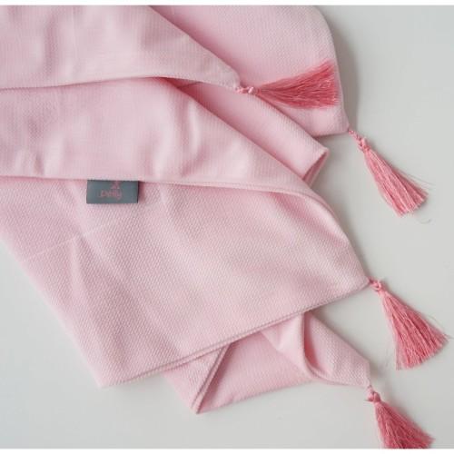 Lekki kocyk/otulacz niemowlęcy wykonany z aksamitu- róż